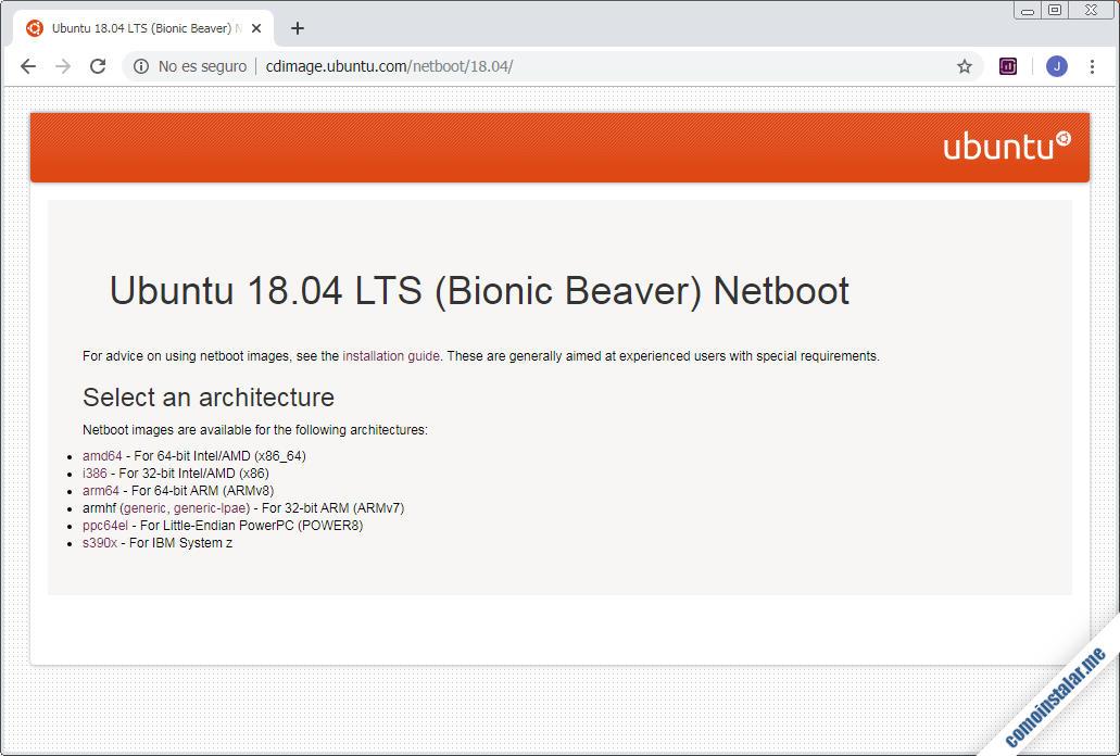 como descargar ubuntu 18.04 lts para virtualbox