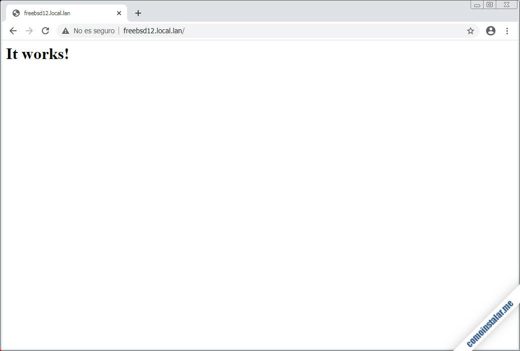 como instalar el servidor web apache en freebsd 12