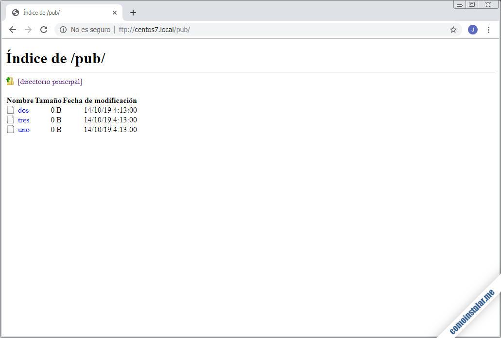 como instalar y configurar el servidor ftp en centos 7