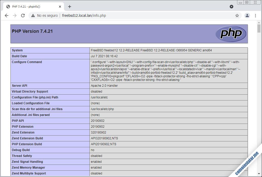 como instalar php 7.4 en freebsd 12