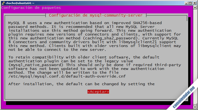 como configurar mysql server 8 en ubuntu 18.04 lts