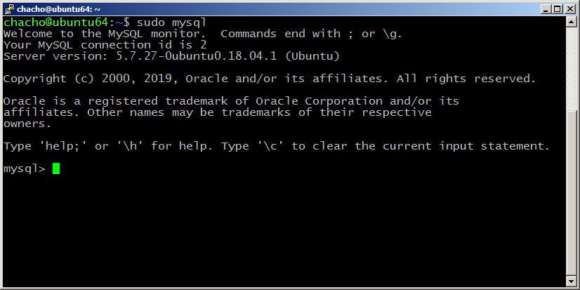 instalar mysql en ubuntu 18.04