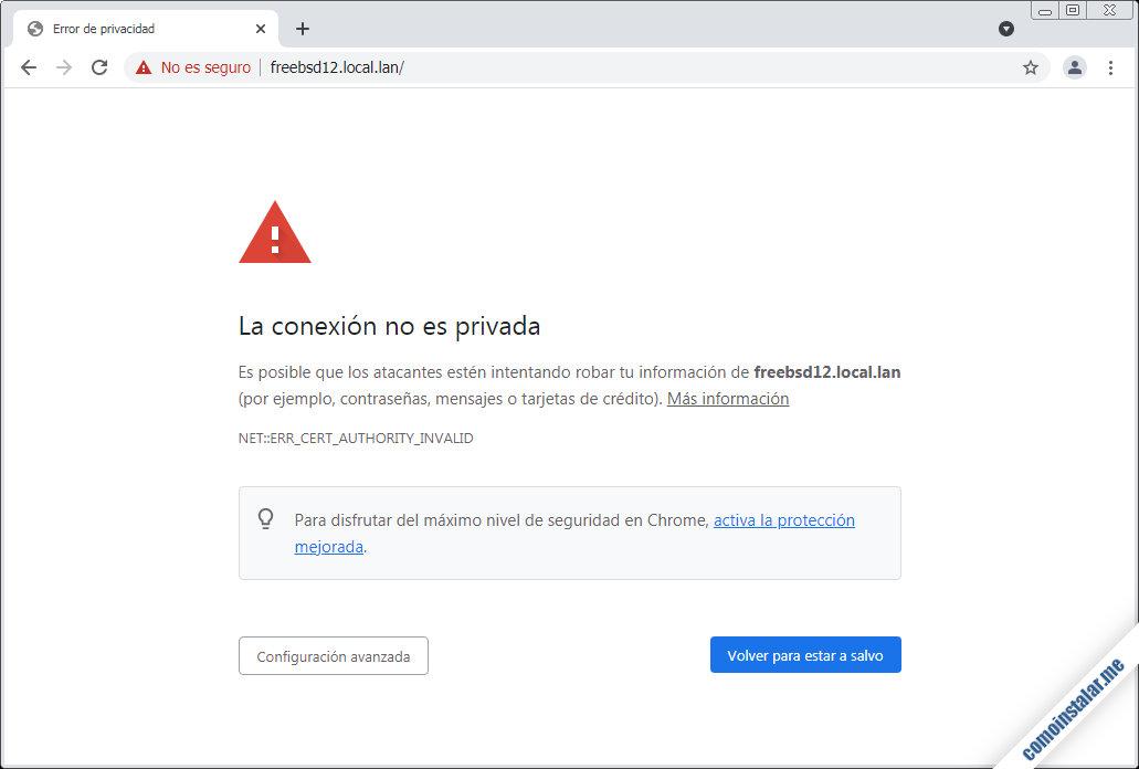 certificados ssl en nginx para freebsd 12
