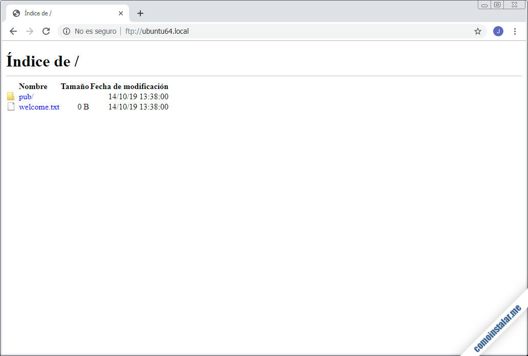 como configurar ftp en ubuntu 18.04 lts