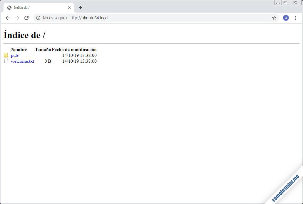 como instalar y configurar ftp en ubuntu 18.04 lts bionic beaver