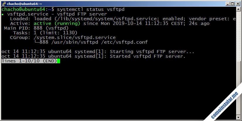 como instalar ftp en ubuntu 18.04 lts