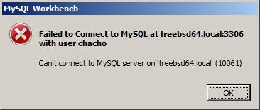 permitir conexiones remotas de mysql en freebsd 12