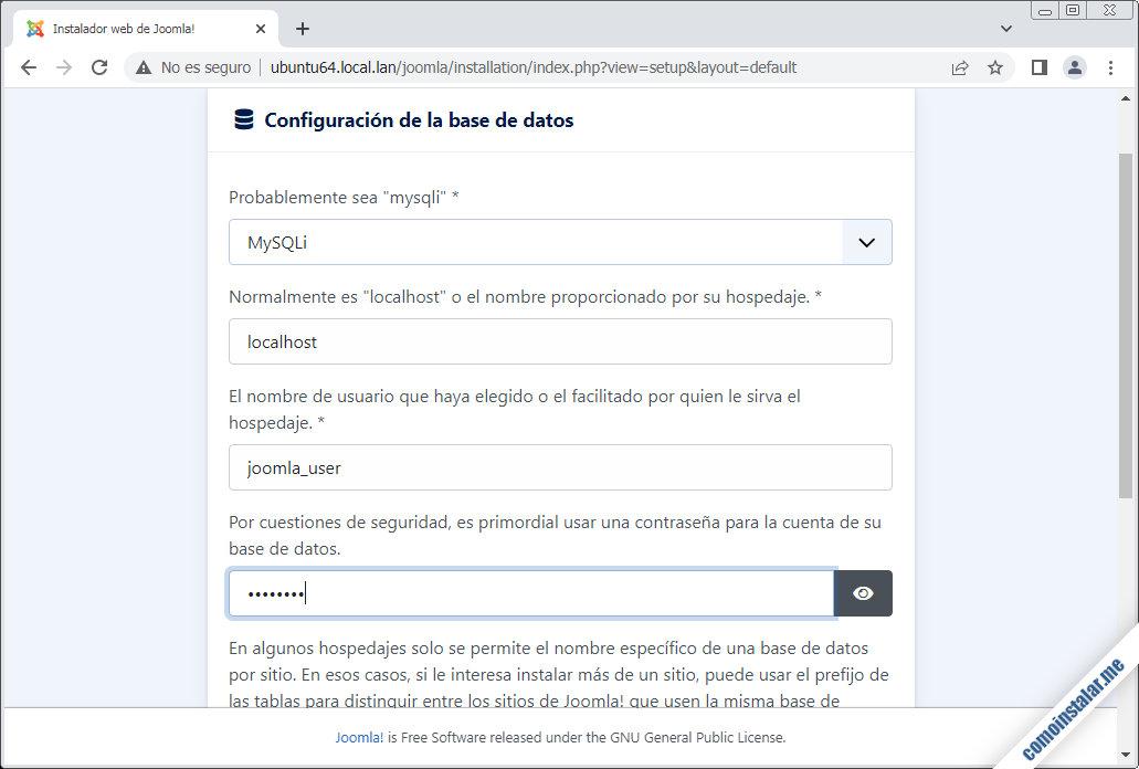 instalacion de joomla en ubuntu 18.04 lts