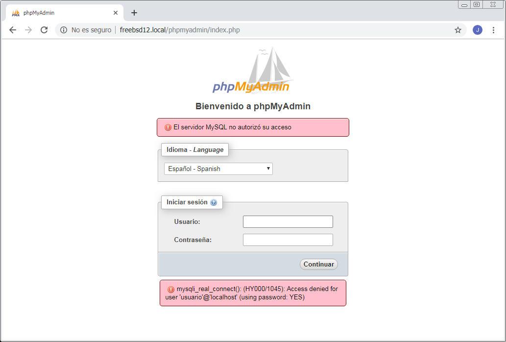 instalar y configurar phpmyadmin en freebsd 12