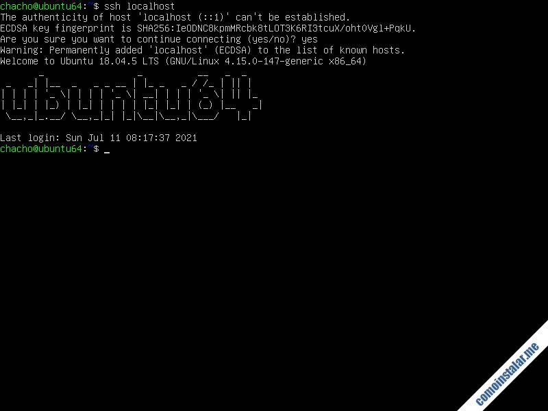instalar ssh en ubuntu 18.04