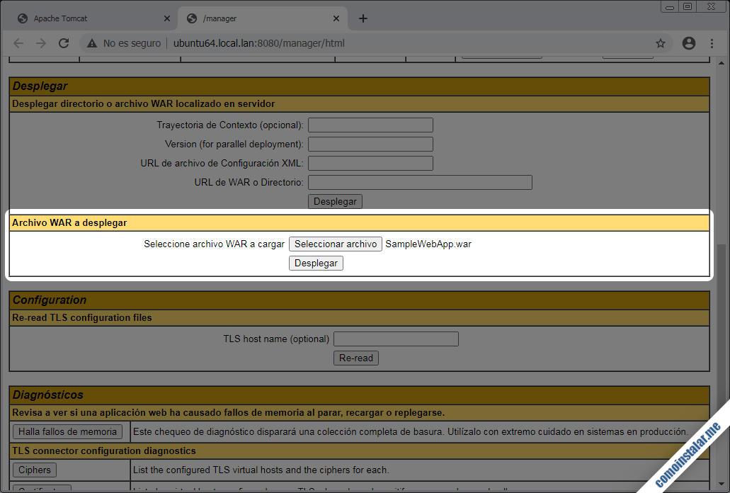 configurar tomcat en ubuntu 18.04