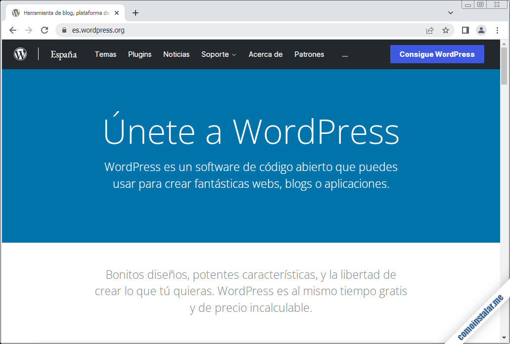 como descargar wordpress para centos 8