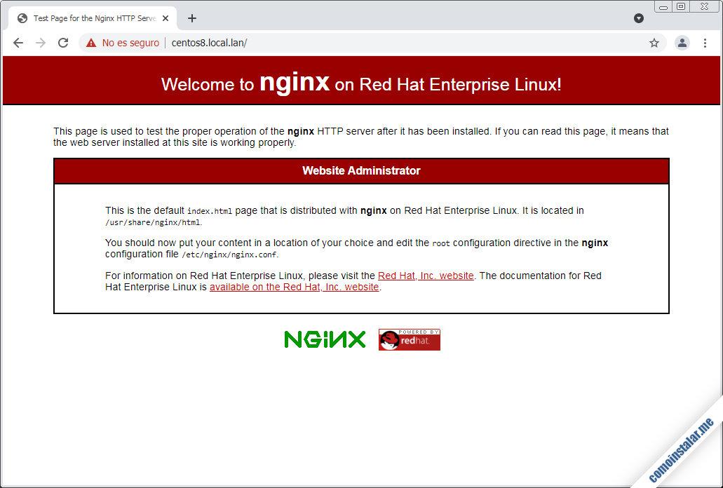 configurar nginx en centos 8