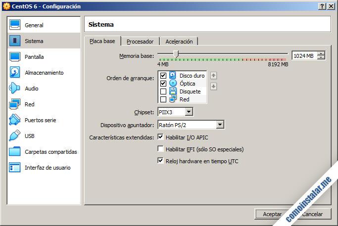 configurar maquina virtual de centos 6