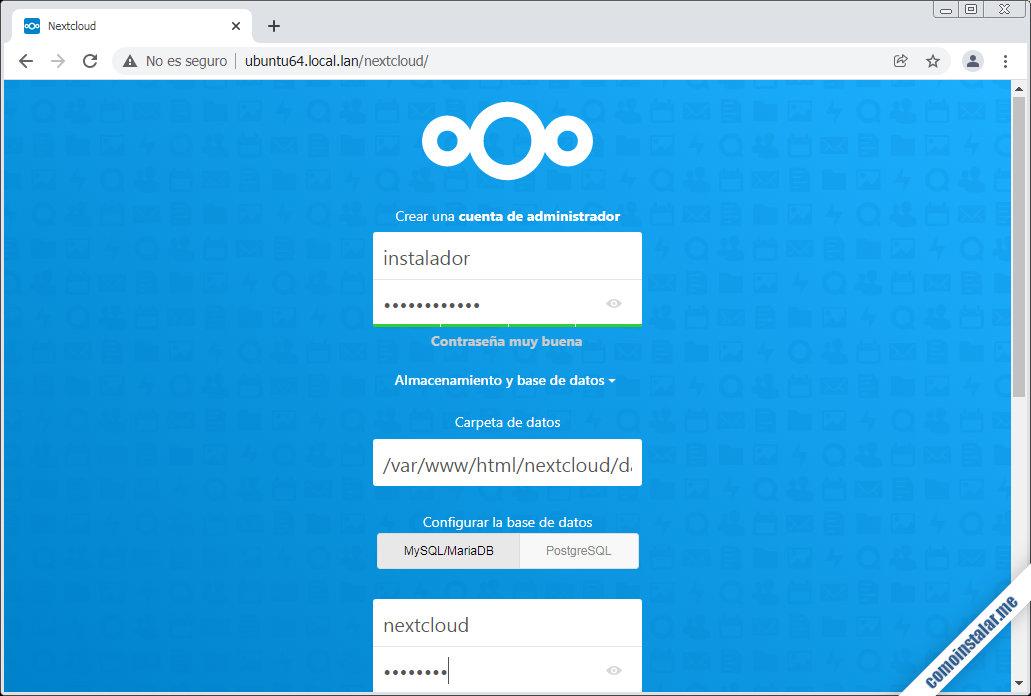como instalar nextcloud en ubuntu 18.04