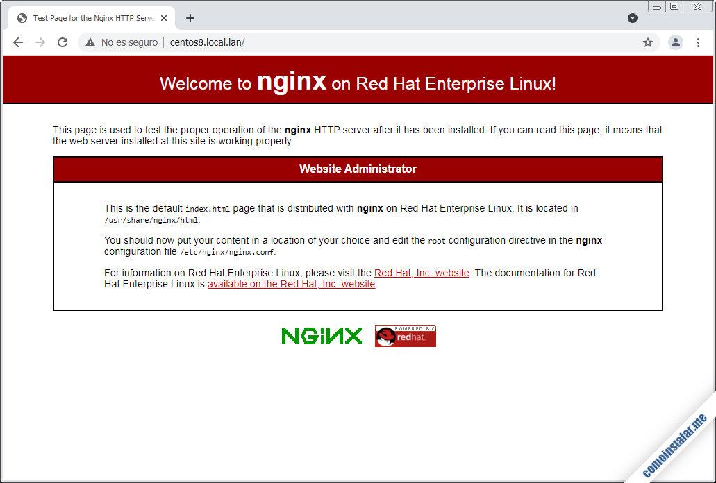instalar nginx en centos 8