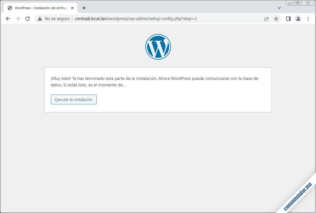 instalacion de wordpress en centos 8