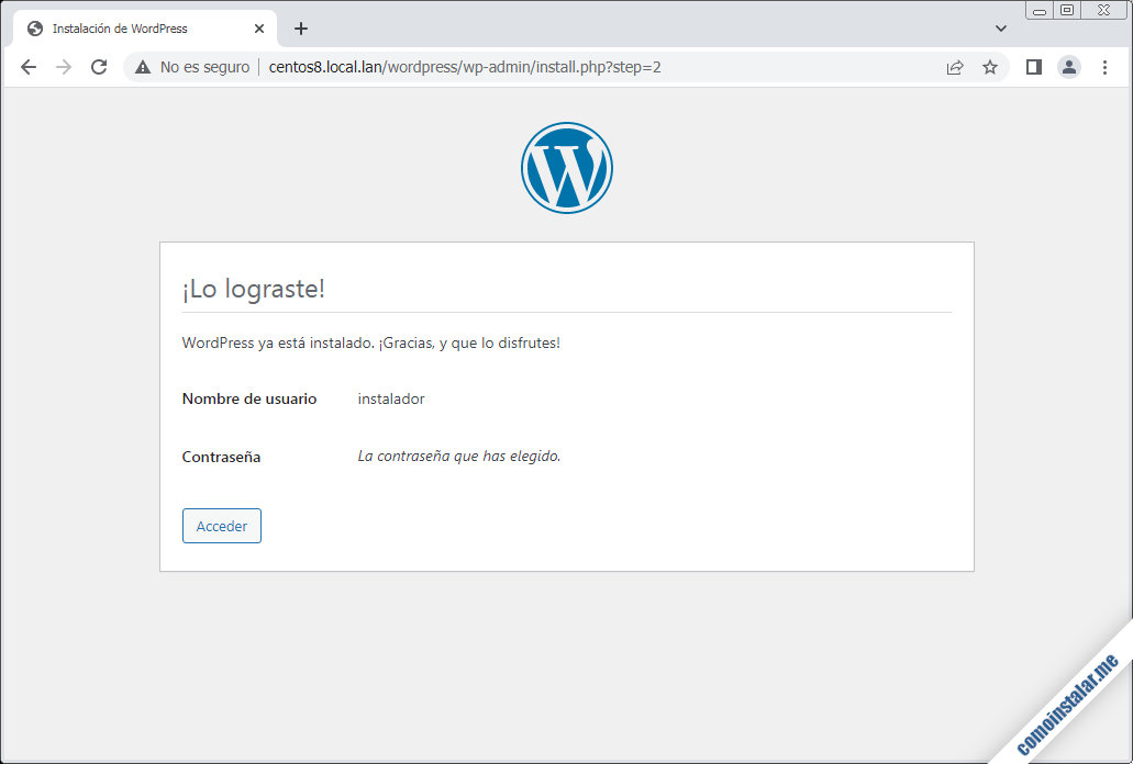 instalando wordpress en centos 8