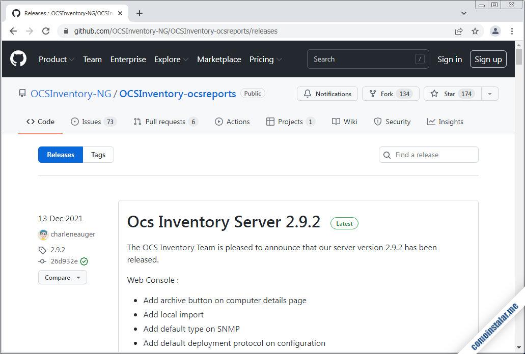 como descargar ocs inventory ng server para centos 7