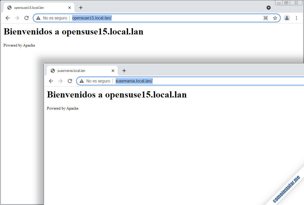 como instalar y configurar apache en opensuse leap 15.1