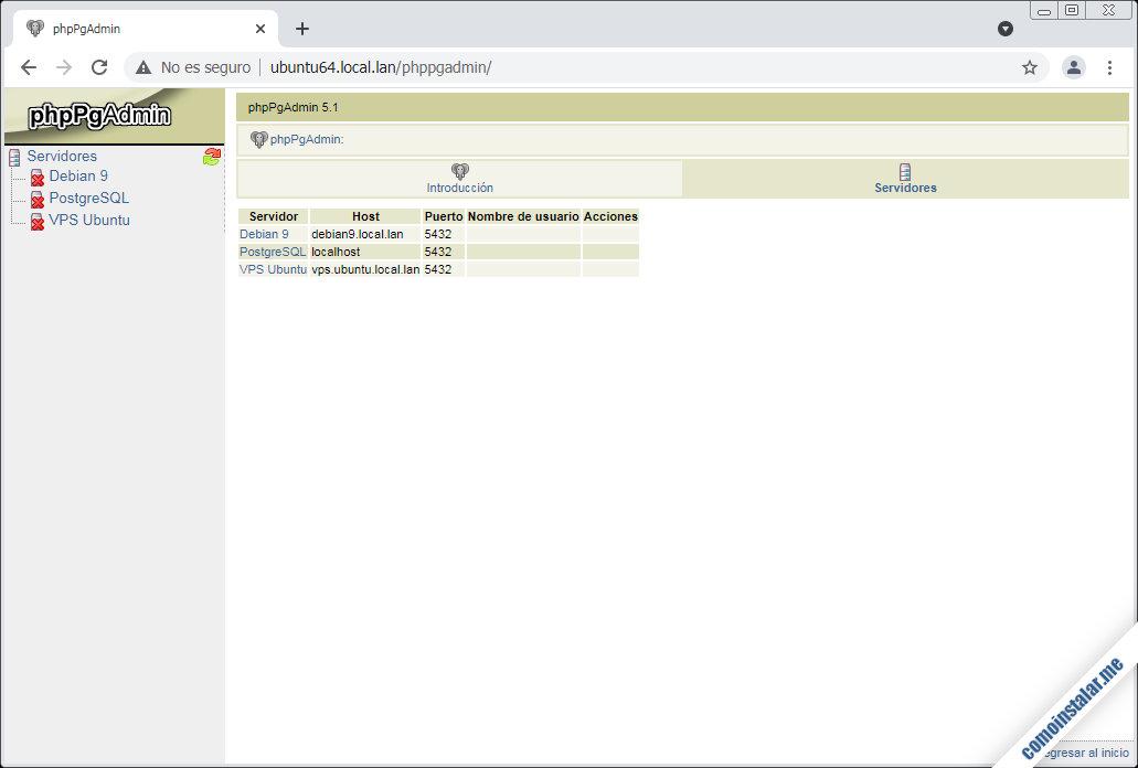 como configurar phppgadmin en ubuntu 18.04 lts