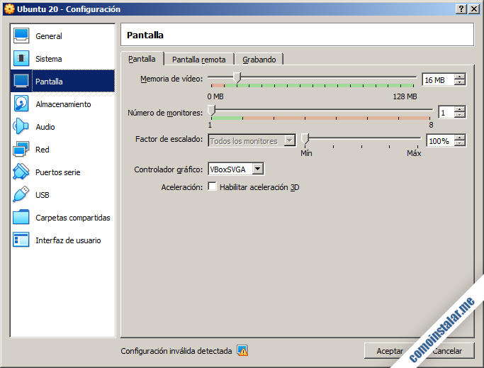 maquina virtual de virtualbox para ubuntu 20.04