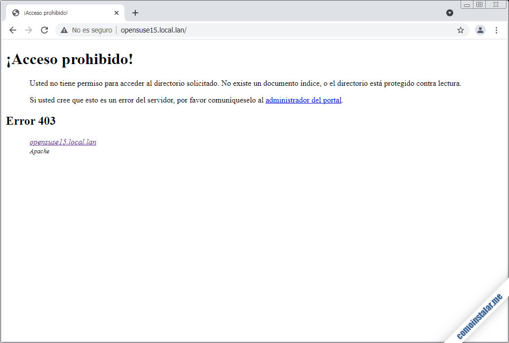 instalar el servidor web apache en opensuse leap 15.1