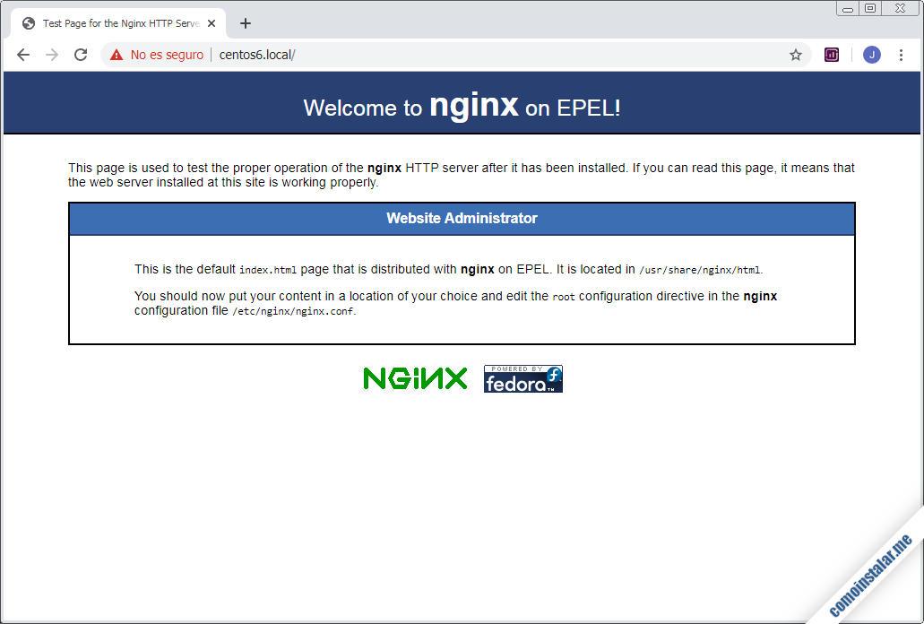 configurar nginx en centos 6