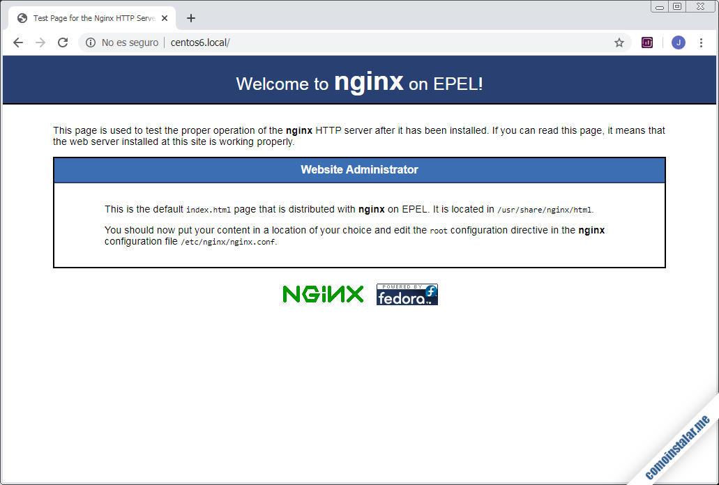 como instalar nginx en centos 6