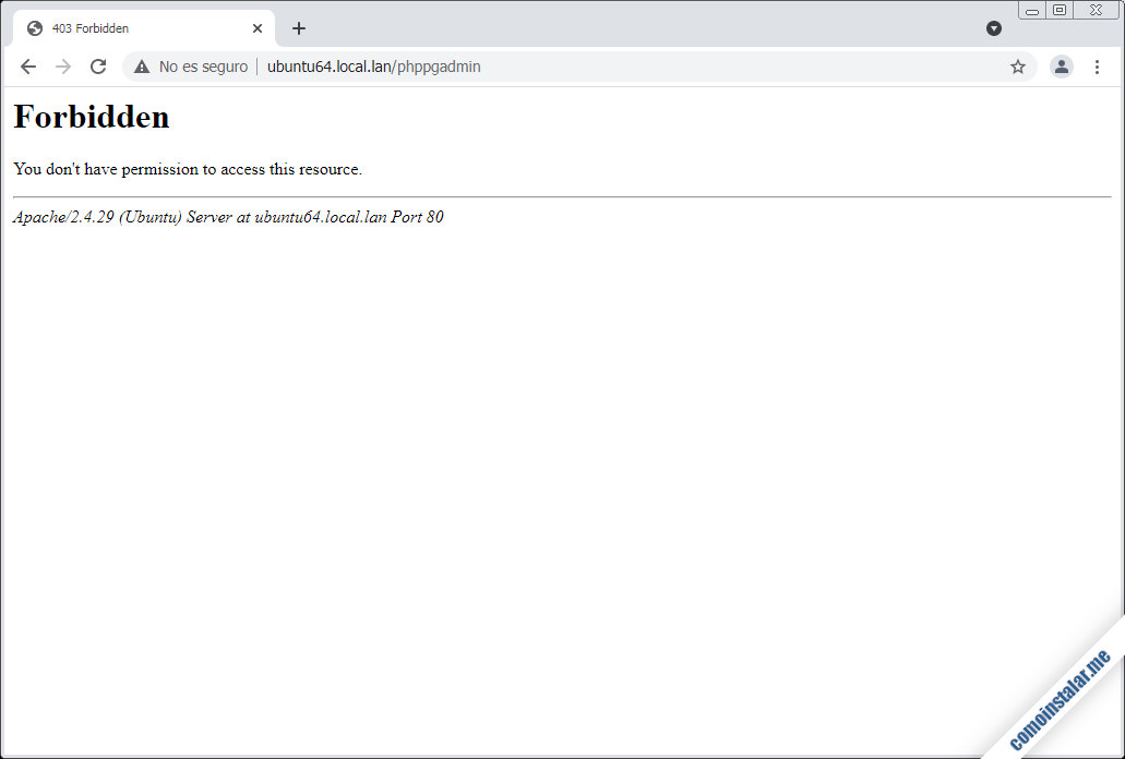 como instalar phppgadmin en ubuntu 18.04 lts