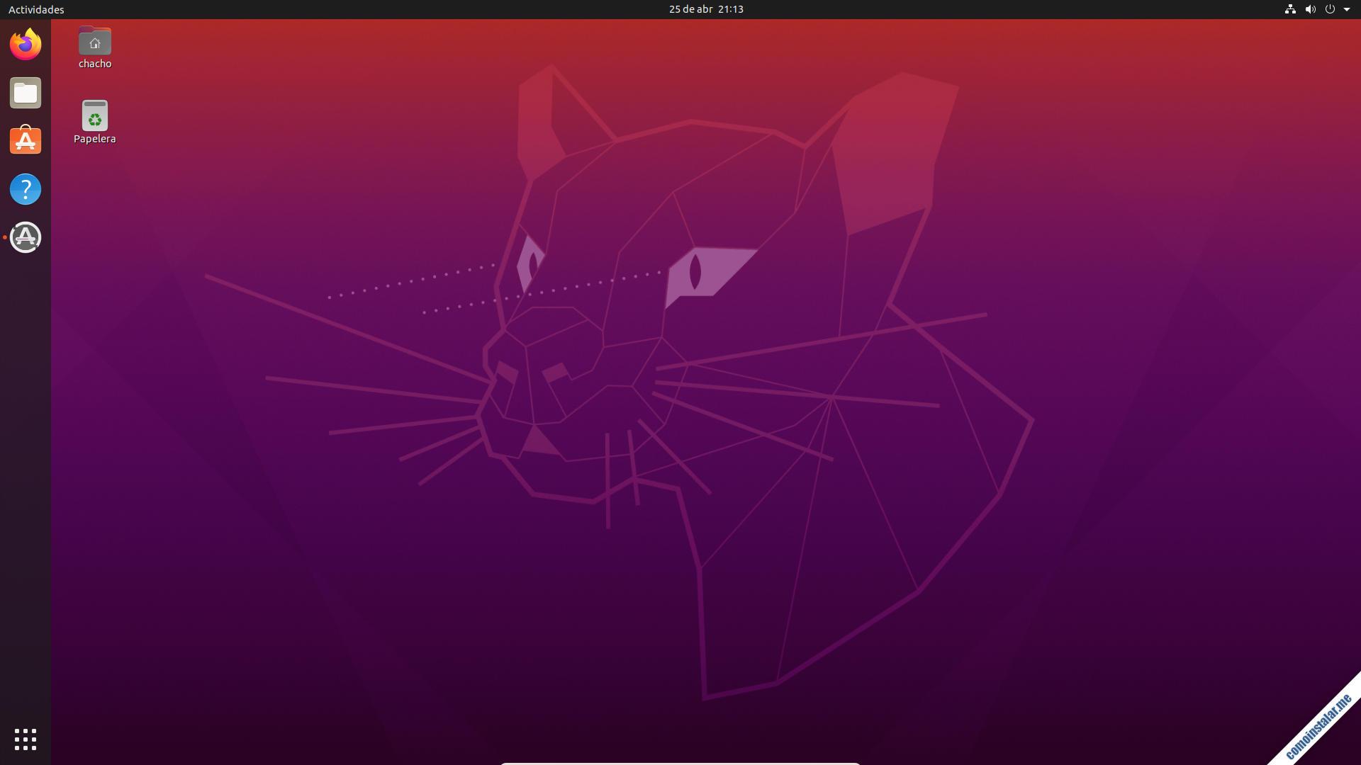 ubuntu 20.04 focal fossa en virtualbox