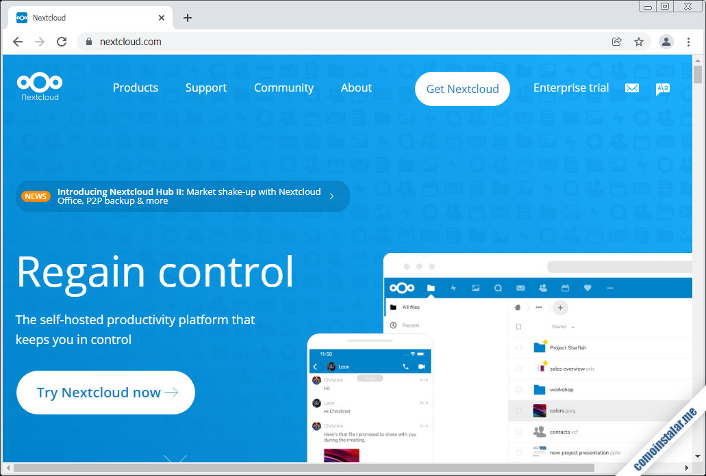 como descargar nextcloud para freebsd 12
