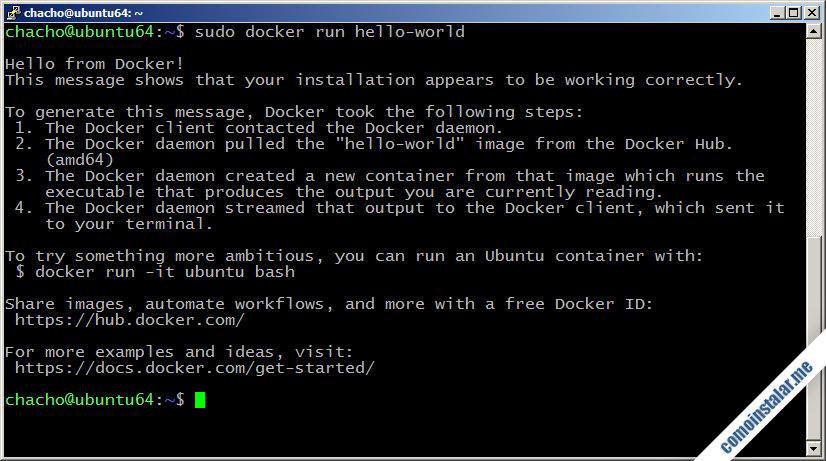 docker en ubuntu 18.04 lts bionic beaver