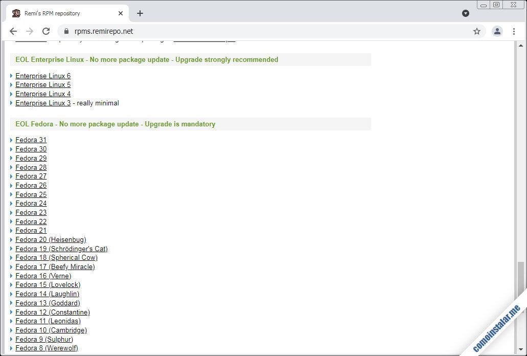 como descargar el repositorio Remi para CentOS 6