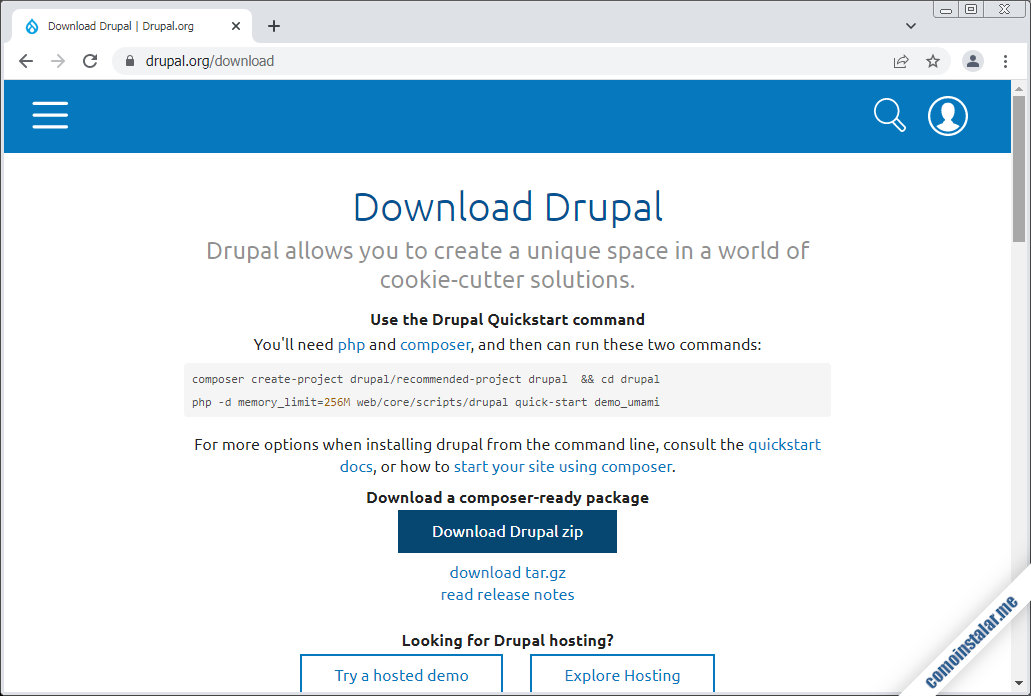 como descargar drupal para freebsd 12