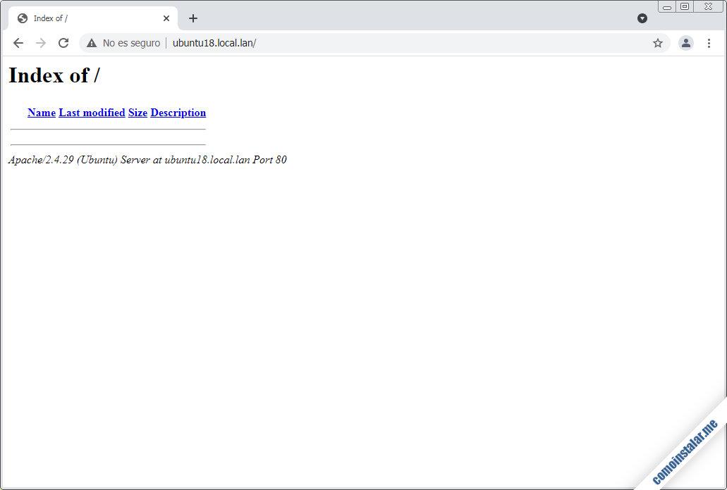 configuracion de servidores virtuales de apache en ubuntu 18.04 lts