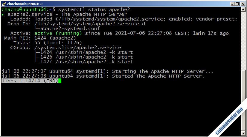 como instalar apache en ubuntu 18.04 lts bionic beaver