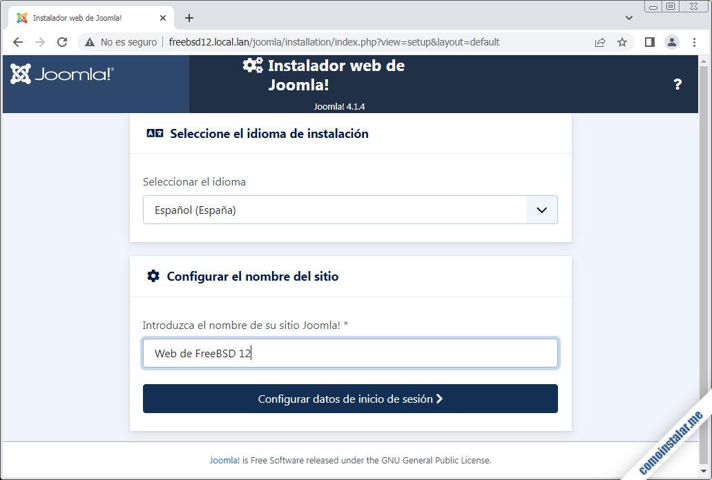 como instalar Joomla en FreeBSD 12