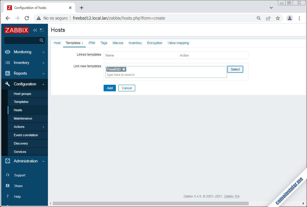 configuracion de zabbix en freebsd 12