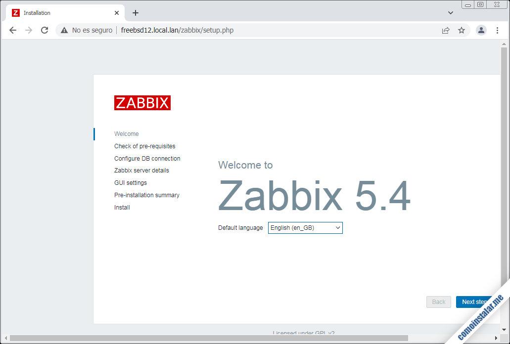 como instalar zabbix en freebsd 12