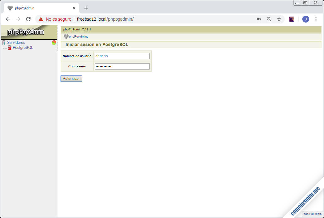 instalar phppgadmin en freebsd 12