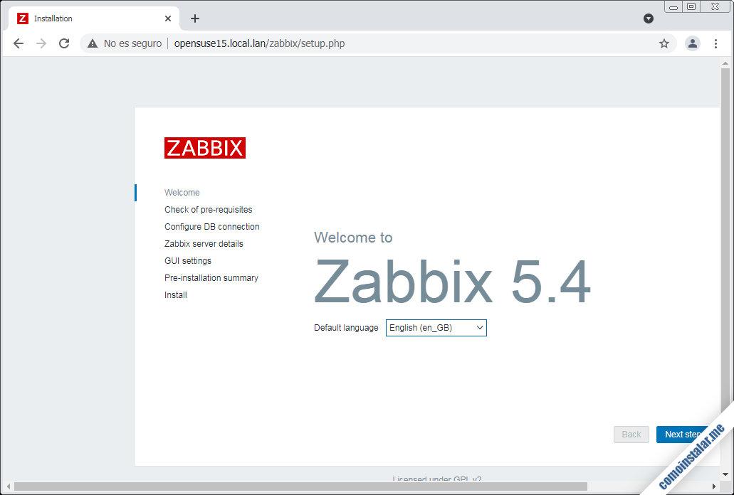 como instalar zabbix en opensuse leap 15.1