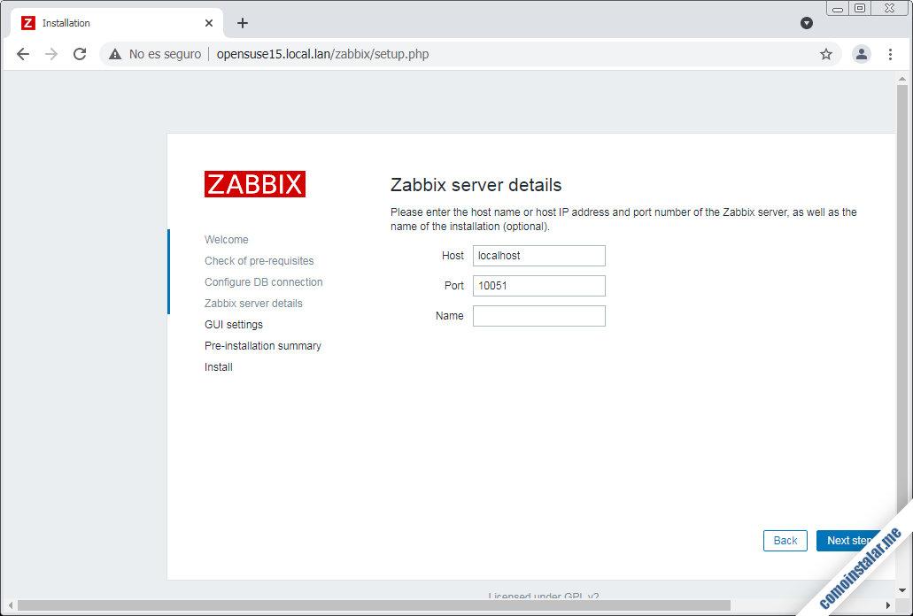 instalar y configurar zabbix en opensuse leap 15.1