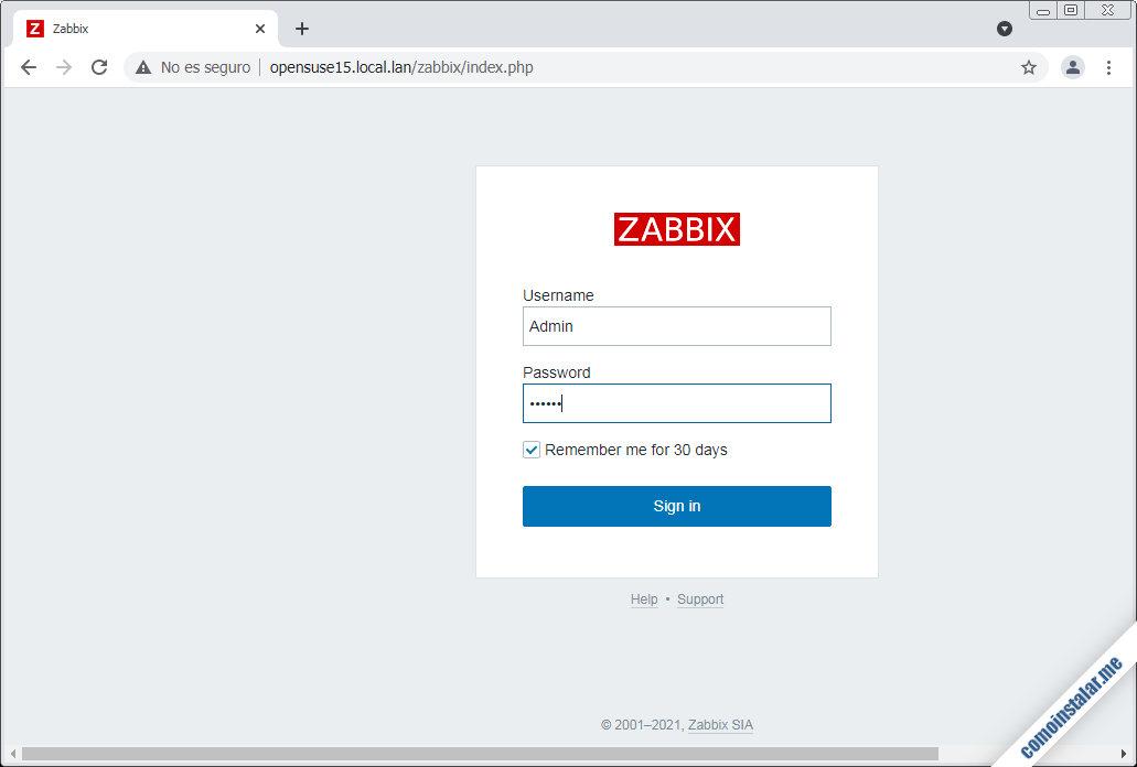 instalar zabbix frontend en opensuse leap 15.1
