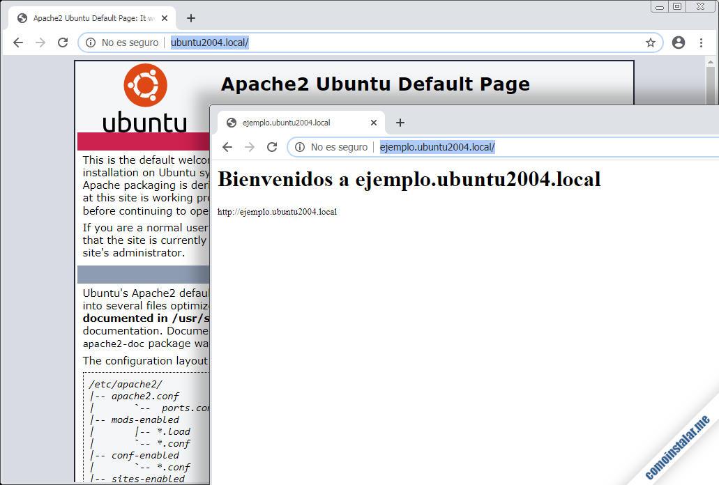 como configurar apache en ubuntu 20.04 lts focal fossa
