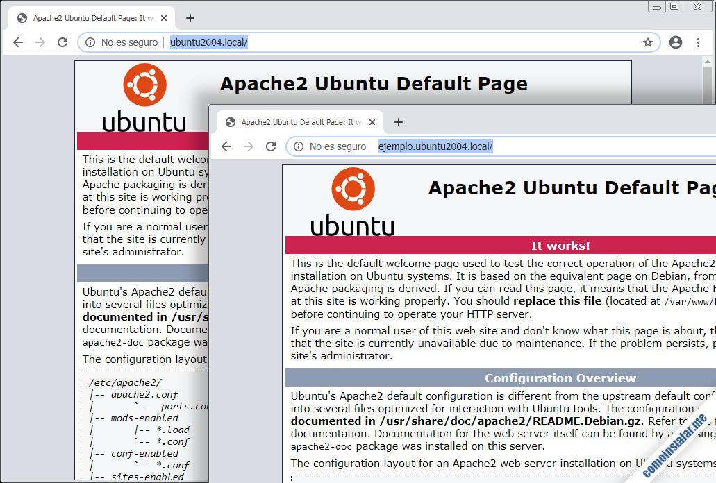 instalar y configurar apache en ubuntu 20.04 lts focal fossa