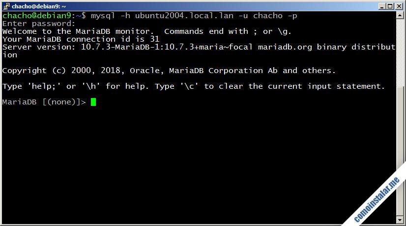 instalar y configurar mariadb en ubuntu 20.04 focal fossa