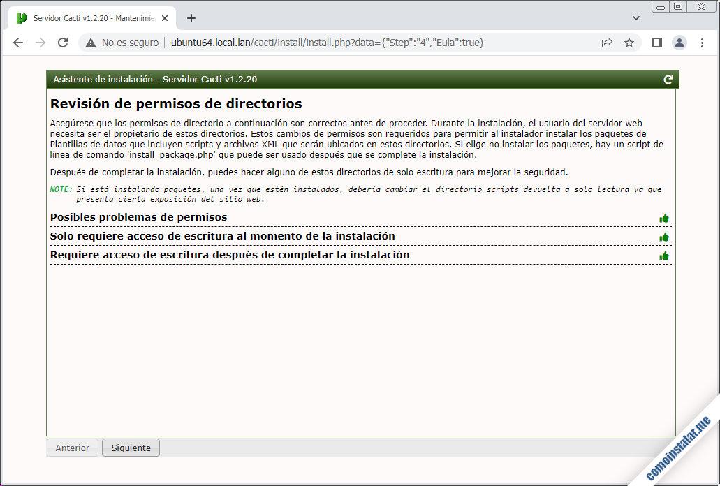 instalando cacti en ubuntu 18.04 lts bionic beaver