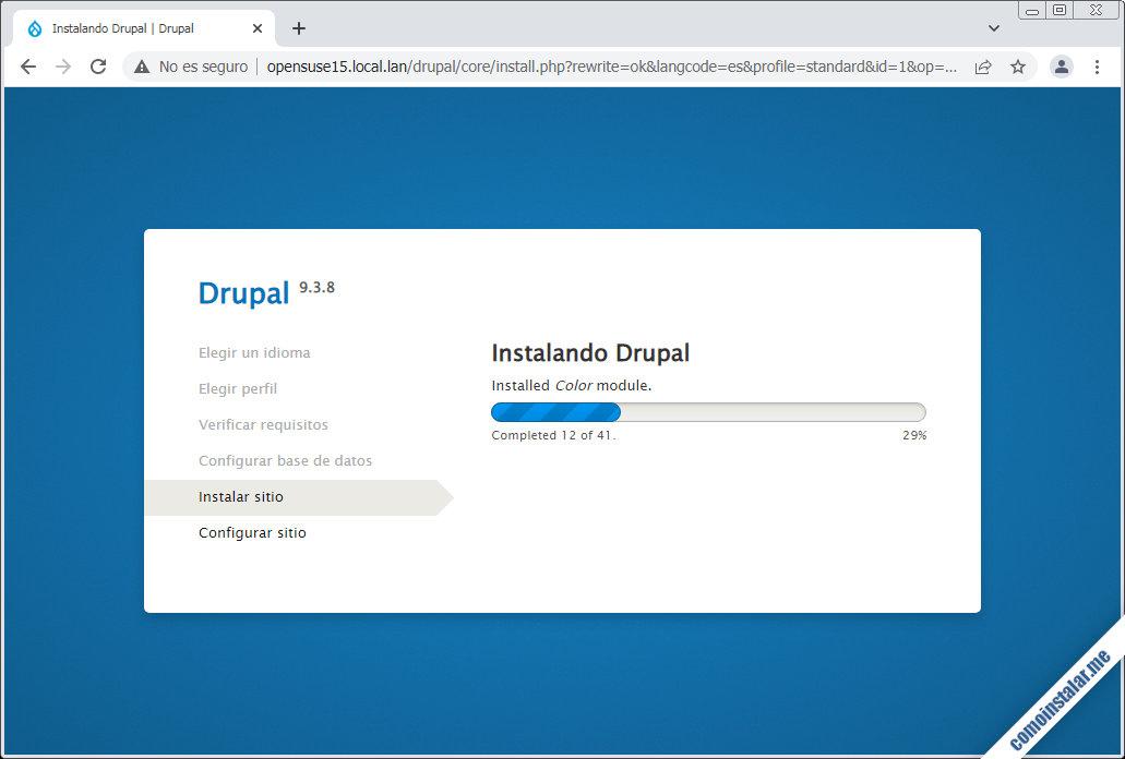 instalador de drupal en opensuse leap 15.1 y 15.2