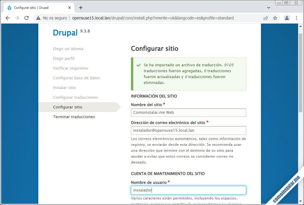instalando drupal en opensuse leap 15.1 y 15.2